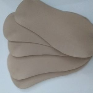 5pairs low cut liners beige color one size